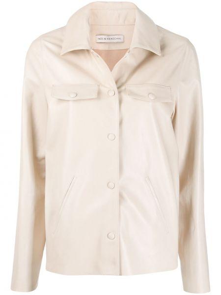 Мешковатая классическая рубашка с воротником на кнопках с карманами Inès & Maréchal
