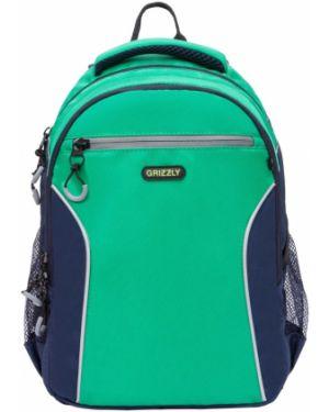 Рюкзак зеленый темно-синий Grizzly