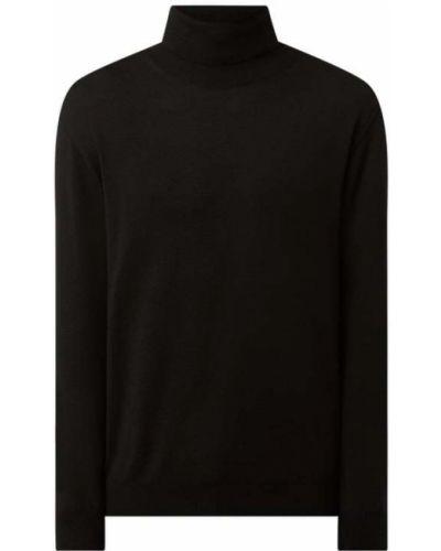 Czarny sweter wełniany Digel