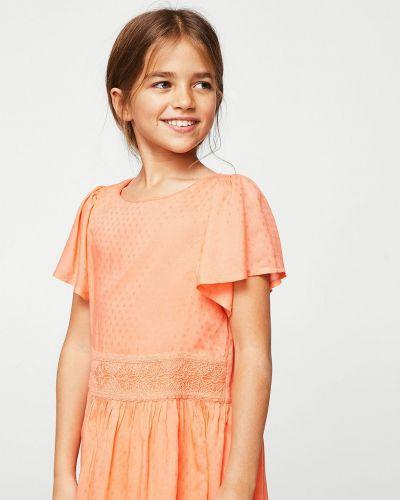 Оранжевое платье Mango Kids