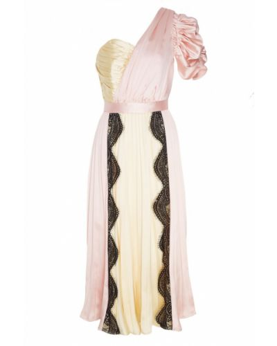 Вечернее платье розовое со вставками Self-portrait