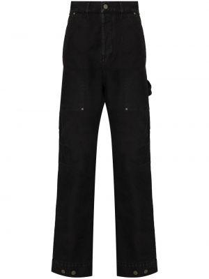 Spodnie bawełniane - czarne Palm Angels