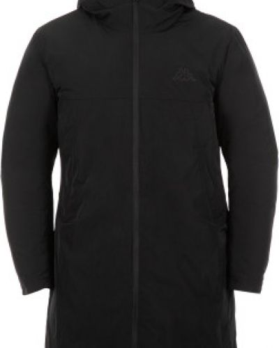 Зимняя куртка с капюшоном черная Kappa