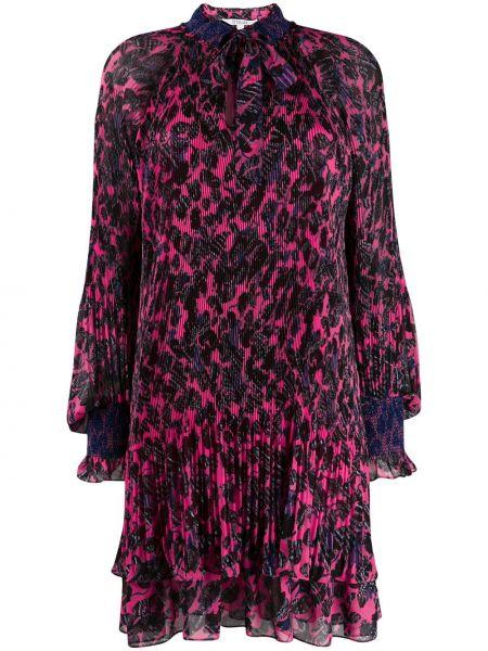 Платье с цветочным принтом плиссированное Derek Lam 10 Crosby