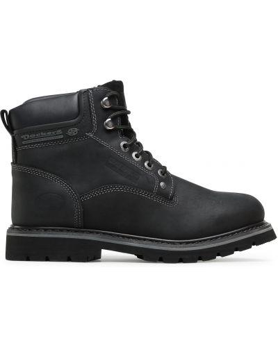 Кожаные ботинки - черные Dockers By Gerli