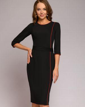 Платье с поясом футляр на молнии 1001 Dress