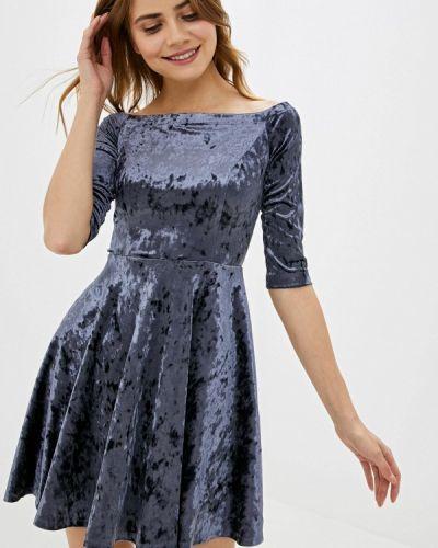 Платье серое прямое Vittoria Vicci