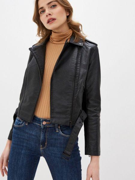 Кожаная черная кожаная куртка Colin's