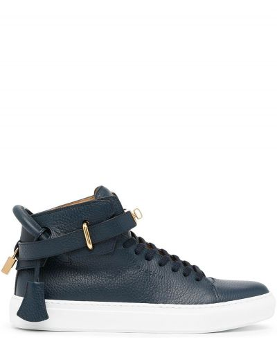 Niebieskie sneakersy koronkowe Buscemi