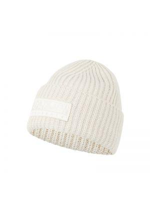Biały ciepły czapka baseballowa z paskami Napapijri