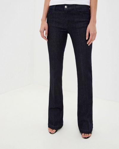 Широкие джинсы расклешенные синие Emporio Armani
