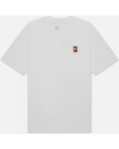 Белая хлопковая футболка Nike Sb