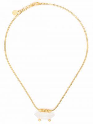 Złoty naszyjnik - biały Gas Bijoux