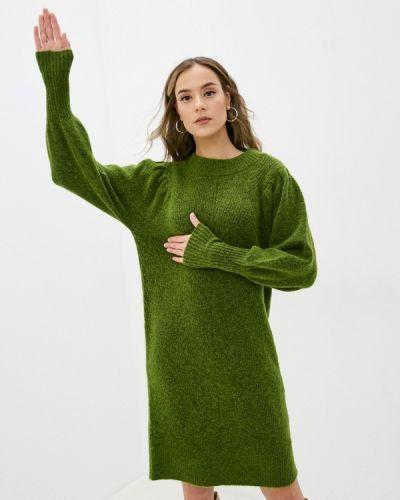 Зеленое вязаное платье Selected Femme