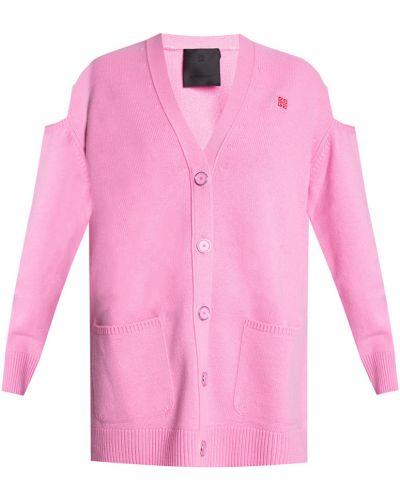 Różowy kardigan wełniany Givenchy