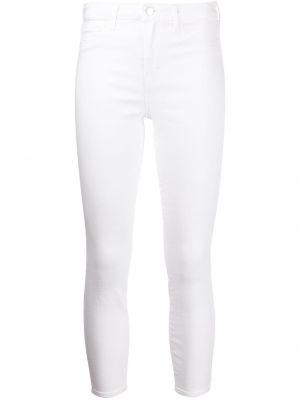 Джинсовые зауженные джинсы - белые L'agence