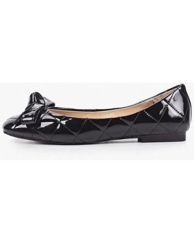 Черные кожаные лаковые балетки Tuffoni