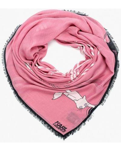 Платок розовый Karl Lagerfeld