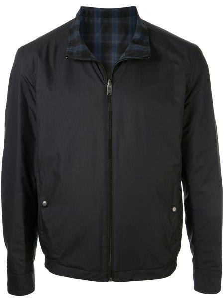Niebieska długa kurtka softshell z długimi rękawami Kent & Curwen