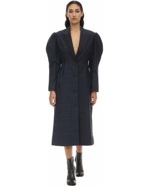 Czarny płaszcz Pushbutton
