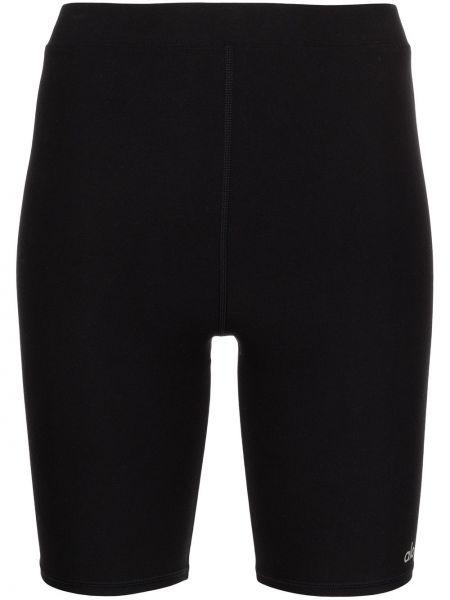 Czarne szorty z printem Alo Yoga