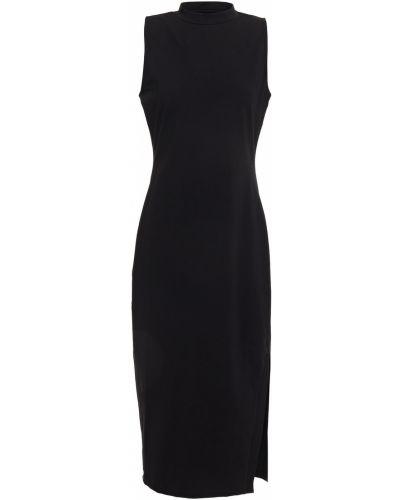 Ватное трикотажное черное платье миди Walter Baker