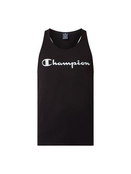 Bawełna bawełna czarny top z dekoltem Champion