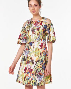 Летнее платье с цветочным принтом на молнии Victoria Filippova
