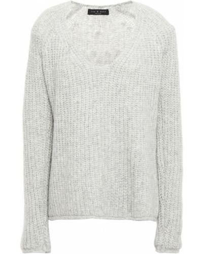 Prążkowany szary sweter wełniany Rag & Bone
