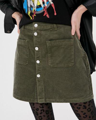 Зеленая юбка свободного кроя Jacqueline De Yong