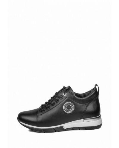 Кожаные черные кроссовки Pandora