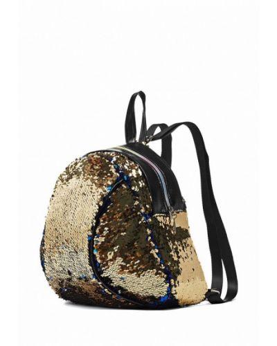 Кожаный рюкзак золотого цвета Nothing But Love