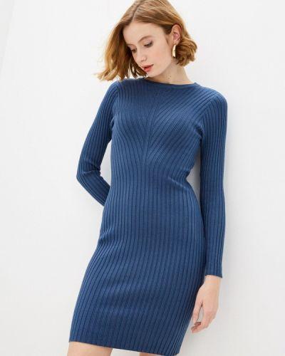 Трикотажное синее вязаное платье Trendyangel