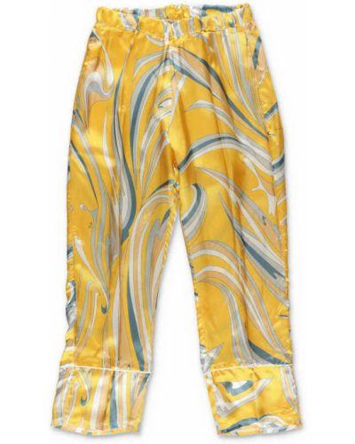 Żółte spodnie Emilio Pucci