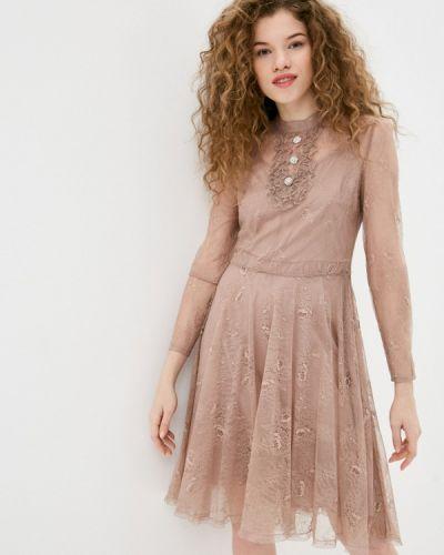 Розовое вечернее платье Lusio