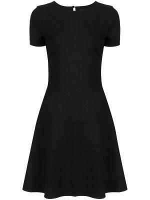 Трикотажное черное платье мини с вырезом Twin-set