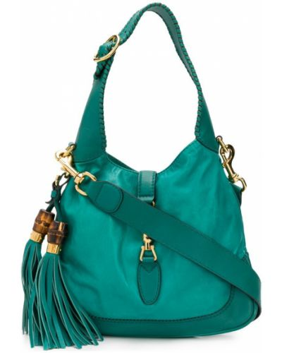 Кожаная сумка с кисточками на плечо Gucci Vintage
