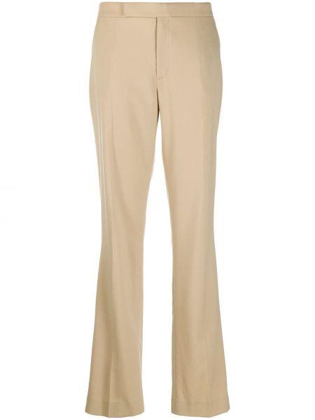 Бежевые с завышенной талией брюки с карманами Ralph Lauren