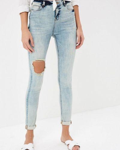 Голубые джинсы рваные Silvian Heach