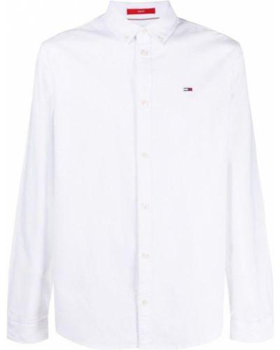 Biała koszula jeansowa zapinane na guziki Tommy Hilfiger