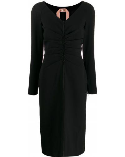 Платье миди макси с V-образным вырезом N21
