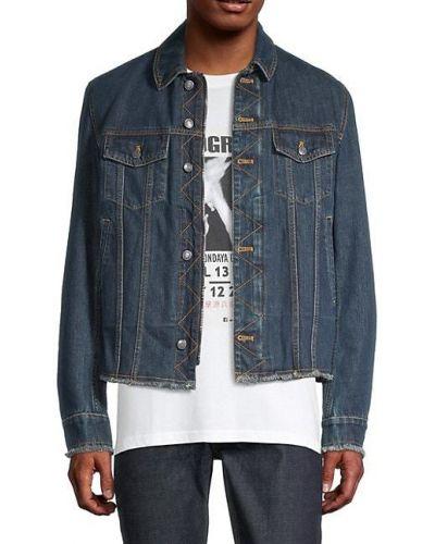 Niebieskie jeansy bawełniane z długimi rękawami Zadig & Voltaire