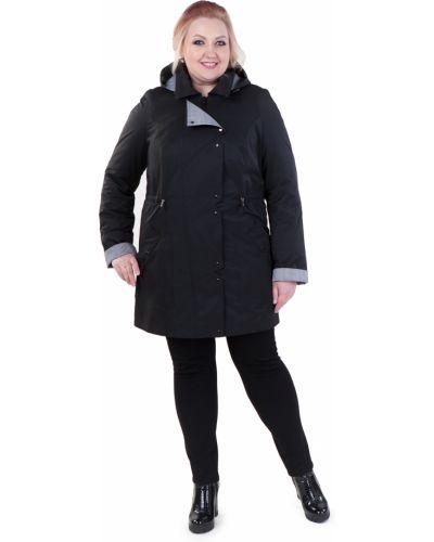 Длинная куртка черная на кнопках Lacywear