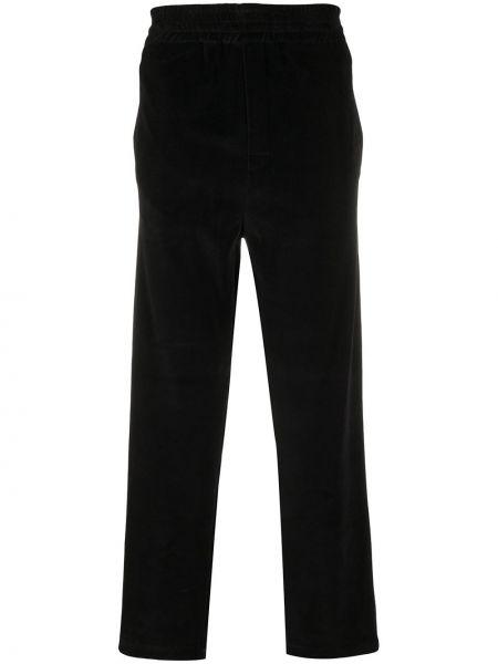 Прямые черные укороченные брюки с карманами Golden Goose
