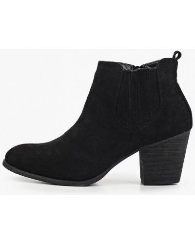 Туфли на каблуке черные замшевые Ideal Shoes®