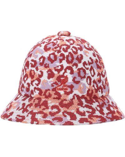 Мягкая фиолетовая шапка с вышивкой Kangol