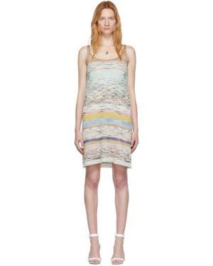 Платье вязаное с отложным воротником Missoni