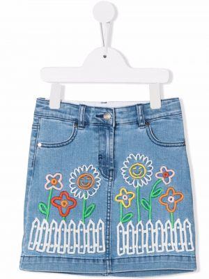 Spódnica jeansowa z paskiem - niebieska Stella Mccartney Kids