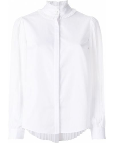Белая блузка плиссированная Karl Lagerfeld