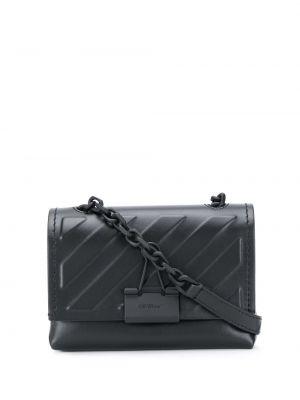 С ремешком кожаная черная поясная сумка Off-white